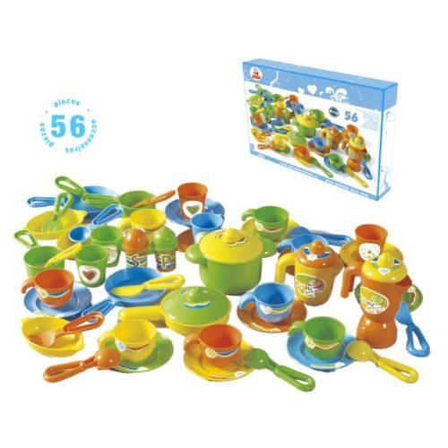 Konyhai felszerelés szett  56 részes , gyermekeknek, szerepjáték konyha