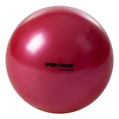 Ritmikus gimnasztika labda gyakorló, csillogó magasfényű, 16 cm átmérőjű 300gr súlyú - piros