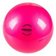 Ritmikus gimnasztika labda gyakorló, csillogó magasfényű, 16 cm átmérőjű, 300gr. súlyú - intenzív tónusú extra pink