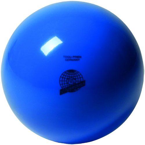 Ritmikus gimnasztika versenylabda, gyöngyház magasfényű, 19 cm,420g - kék
