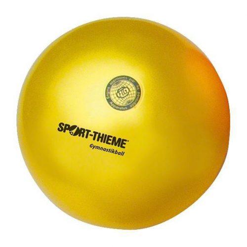 Ritmikus gimnasztika versenylabda, magasfényű, 19 cm,420g - sárga