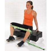 Elastiband® fitnesz erősítő gumipánt Multi közepes erősség, gumival átszőtt elastiband textil pánt hosszú, zöld ,10 kg ellenállás , közepes, 110x4 cm