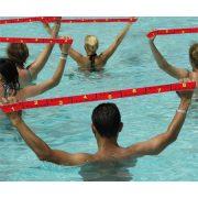 Elastiband® fitnesz erősítő gumipánt közepes ellenállás, 10 kg erősségű piros elasztikus gumipánt 80x4 cm