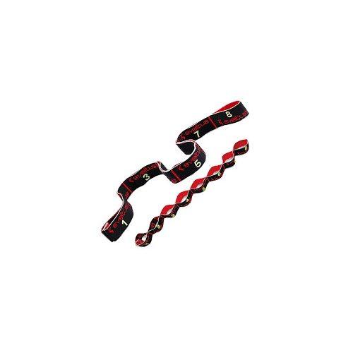 Elastiband fitnesz erősítő gumipánt erős, 8 db 10 cm hosszú szakaszból,15 kg erősségű fekete elasztikus gumipánt , 80x4 cm