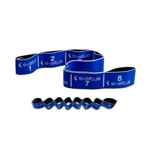 Elastiband® Fitness erősítő gumipánt , kék 20 kg erős ellenállás, 8 szakasz, 80x6 cm
