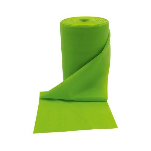 Gumi elasztikus tornaszalag 25 m-es fitband tekercs, 35-es erősség, neönzöld