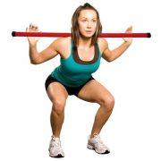 Nehezített tornabot 1,5 kg fitnesz gyakorlatokhoz 105 cm hossz, narancs szín