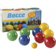 Boccia /petanque fa játékkészlet 8 db 8 cm átmérőjű golyóval és 1 db cél golyóval