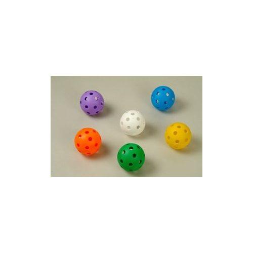 Floorball labda extra szett gyerekeknek (ultra soft puha biztonsági anyagból, iskolai óvódai és hobby célú használatra gyakorló 6 db-os labda sorozat élénk színekkel)