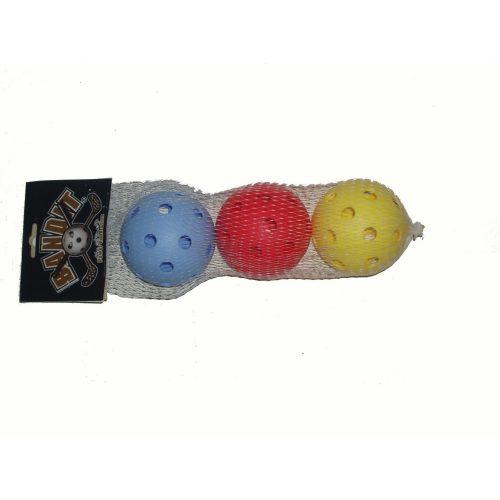 Acito | Floorball labda szett (3db, szabvány méret, vegyes színben)