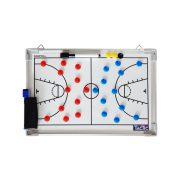 TacticSport | Kosárlabda taktikai tábla, mágneses (30x45cm , alumínium, írható törölhető, közepes méret)