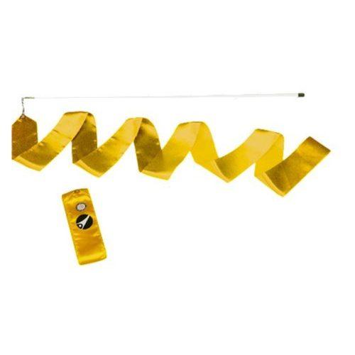TacticSport | Ritmikus gimnasztika szalag pálcával (6m, sárga színben)