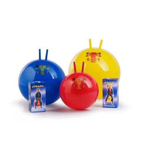 Globetrotter ugráló labda 1 db,  53cm átmérő, kék labda, bika díszítés, 100 kg feletti terhelhetőség