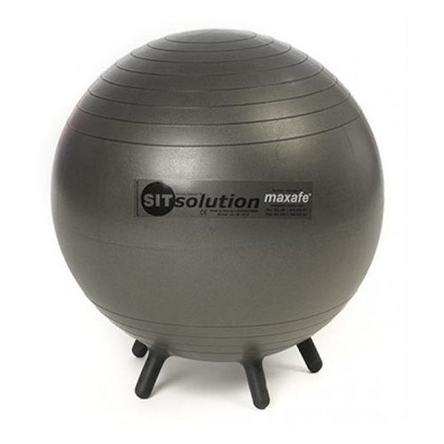 Sitsolution irodai ülőlabda 65 cm apró lábakkal, fekete gyémánt standard anyagból a legkedvezőbb árban, olasz minőség