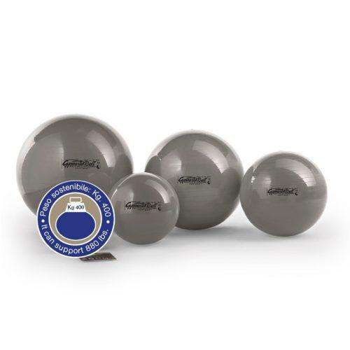 Standard gimnasztika labda 75 cm, 400 Kg-ig terhelhető, ezüst