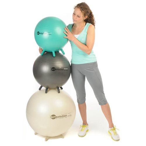 Sitsolution ülőlabda apró lábakkal, Maxafe 65 cm, gyöngyház fehér elegáns labda biztonsági anyagból, olasz minőség a legkedvezőbb árban, egy darab törtfehér hasadásmentes ülőlabda