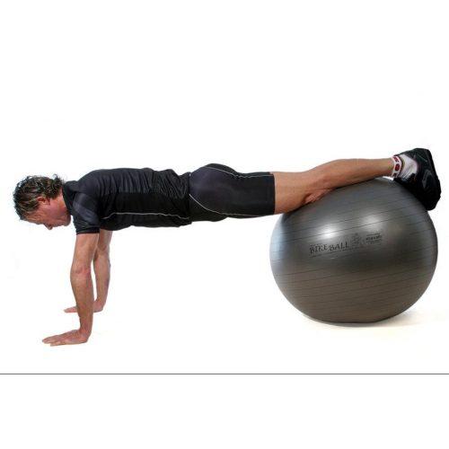 Fitball gimnasztika labda Pezzi maxafe, 65 cm - szürke,  ABS biztonsági anyagból, 100 kg testsúly felett is megfelelő