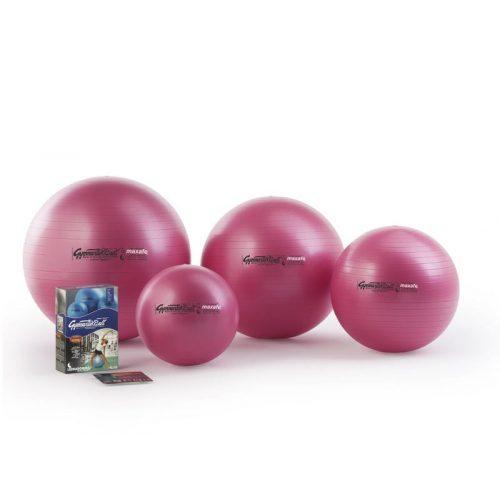 Fitball gimnasztika labda maxafe, 65 cm - pink, ABS biztonsági anyagból