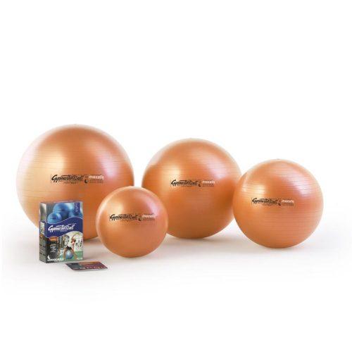 Fitball gimnasztika labda maxafe, 75 cm - narancssárga, ABS biztonsági anyagból, 100kg testsúly felett is használható