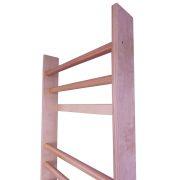 Klasszikus bordásfal (tornatermi kivitel szobai méret  226 x 72 x 15   cm, rétegelt lemez világos oldalfal, keményfa fokok bükkfából)