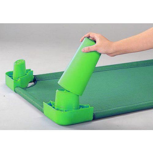 Lábhosszabbító magasító szett óvodai fektetőhöz (zöld színben)