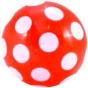 Színes pettyes műanyag labda 220 mm átmérővel , szelepesen fújható játéklabda