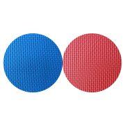 Capetan® Floor Line   Tatami szőnyeg, sportpadló (100x100x4cm, védőszegéllyel ellátott puzzle szőnyeg, piros/kék színben)