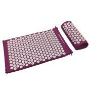 Capetan® | Akupresszúrás matrac párnával és hordtáskával (lila színben)