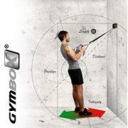 Multitréner TRX jelelgű, tárolódobozos fali rögzítőszerkezettel - Gymbox Variosling kötél tréner professzionális  kivitel fém felfüggesztő- és szabályozó szerkezettel