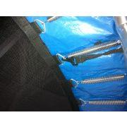 Tactic Sport 180Kg teherbírású Fly High 305 cm kültéri trambulin megnövelt rugószámmal (66db), extra vastag 2,5cm rugótakaró peremmel + védőháló szett- Trambulin 3,05 m védőhálóval 66db rugóval