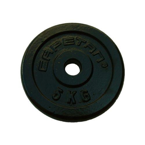 Capetan®   Súlytárcsa (5kg acél tárcsasúly kalapácslakk felülettel, 31 mm lukátmérővel)