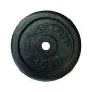 Capetan®   Súlytárcsa (10kg acél tárcsasúly kalapácslakk felülettel, 31 mm lukátmérővel)