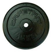 Capetan®   Súlytárcsa (15kg acél tárcsasúly kalapácslakk felülettel, 31 mm lukátmérővel)