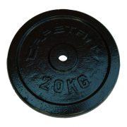 Capetan® | Súlytárcsa (20kg acél tárcsasúly kalapácslakk felülettel, 31 mm lukátmérővel)