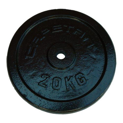 Capetan®   Súlytárcsa (20kg acél tárcsasúly kalapácslakk felülettel, 31 mm lukátmérővel)