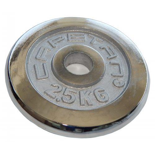 Capetan® | Súlytárcsa (2,5 kg krómozott tárcsasúly, 31 mm lukátmérővel)