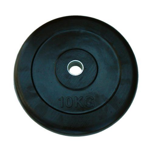 Capetan®   Gumírozott súlytárcsa (10 kg standard tárcsasúly 31mm lukátmérővel, acél gyűrűvel a közepén)