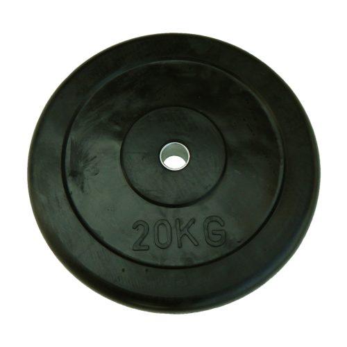 Capetan® | Gumírozott súlytárcsa (20 kg standard tárcsasúly 31mm lukátmérővel, acél gyűrűvel a közepén)