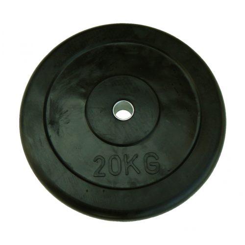 Capetan®   Gumírozott súlytárcsa (20 kg standard tárcsasúly 31mm lukátmérővel, acél gyűrűvel a közepén)