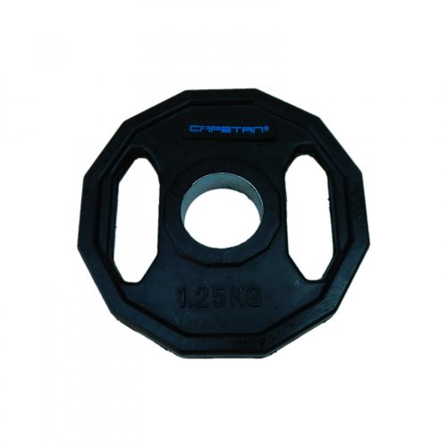 Capetan®   Olympiai gumival bevont súlytárcsa (1,25kg tárcsasúly, szögletes gurulásgátló peremmel, 51mm lukátmérővel)