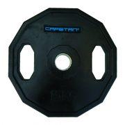 Capetan® | Olympiai gumival bevont súlytárcsa (15kg tárcsasúly, szögletes gurulásgátló peremmel, 51mm lukátmérővel)