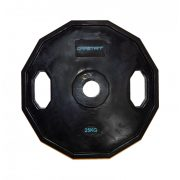 Capetan®   Olympiai gumival bevont súlytárcsa (25kg tárcsasúly, szögletes gurulásgátló peremmel, 51mm lukátmérővel)