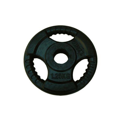 Capetan® Tri Grip | Gumírozott súlytárcsa (ergonómikus 1,25Kg tárcsasúly 31mm lukátmérővel)