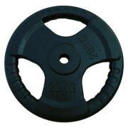 Capetan® Tri Grip   Gumírozott súlytárcsa (ergonómikus 20Kg tárcsasúly 31mm lukátmérővel)