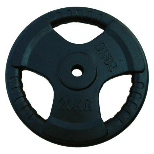 Capetan® Tri Grip | Gumírozott súlytárcsa (ergonómikus 20Kg tárcsasúly 31mm lukátmérővel)