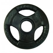 Capetan® Professionl Line | Gumírozott acél súlytárcsa (Olympic Tri Grip gumival bevont 2,5Kg acél tárcsasúly - 51mm lukátmérővel, fogantyúkkal)