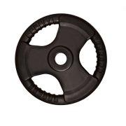 Capetan® Professionl Line   Gumírozott acél súlytárcsa (Olympic Tri Grip gumival bevont 5Kg acél tárcsasúly - 51mm lukátmérővel, fogantyúkkal)