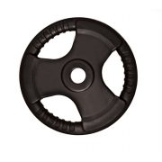 Capetan® Professionl Line   Gumírozott acél súlytárcsa (Olympic Tri Grip gumival bevont 10Kg acél tárcsasúly - 51mm lukátmérővel, fogantyúkkal)