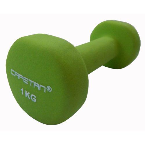 Capetan® | Kézisúlyzó pár (2x1kg, neoprene bevonatú egykezes kézisúlyzó pár)