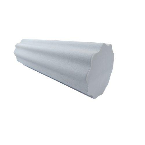 TacticSport | SMR henger, masszázshenger (EVA hab anyagú nagyhullámos felületű intenzív hatású (bordás) physio henger 15cm átm 60cm hosszú - szürke színű)